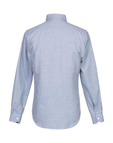 Фото 2 - Pубашка от EMANUELE MAFFEIS синего цвета
