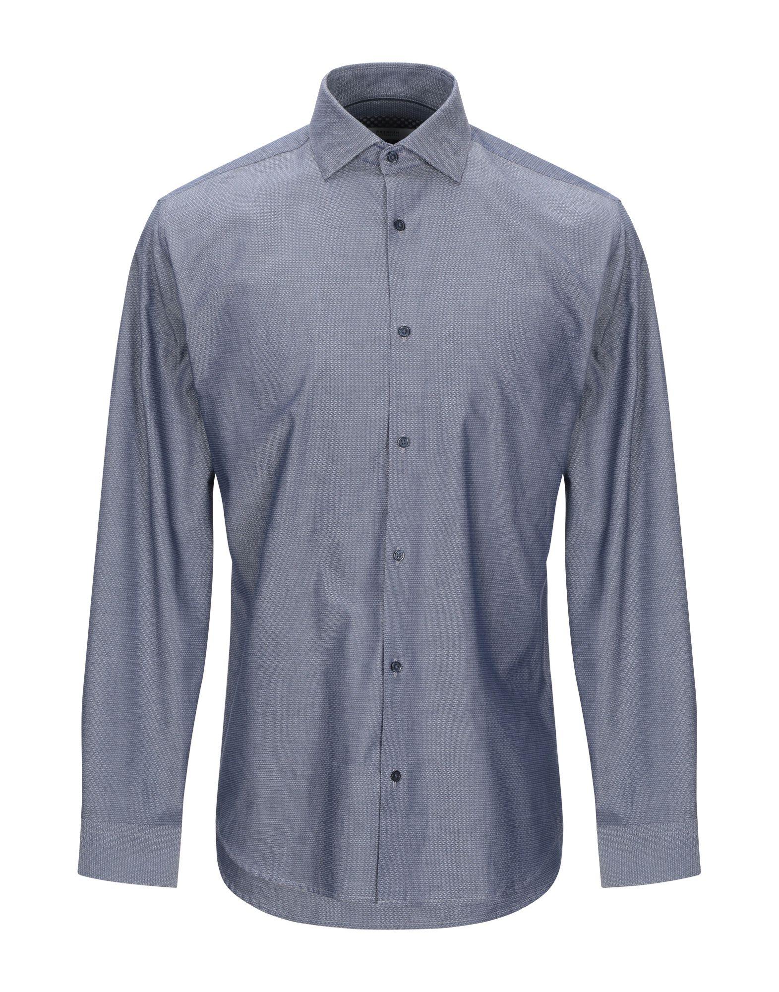 《期間限定セール開催中!》JACK & JONES PREMIUM メンズ シャツ ダークブルー S コットン 100%