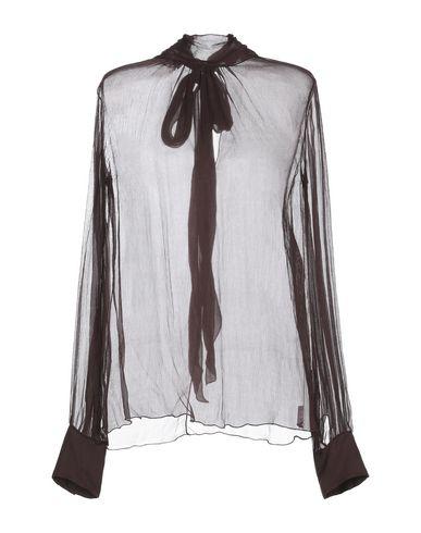 Фото - Женскую блузку MINE темно-коричневого цвета