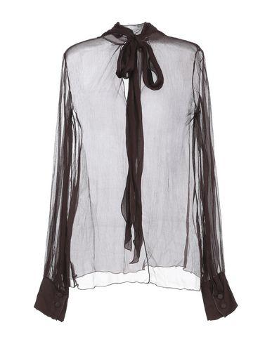 Фото 2 - Женскую блузку MINE темно-коричневого цвета