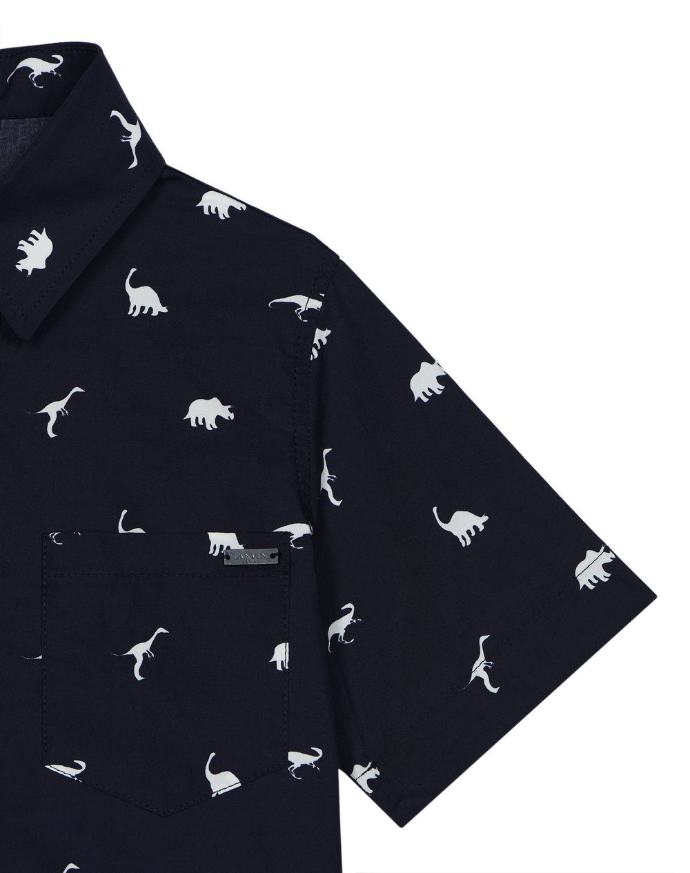 PRINTED NAVY BLUE BOWLING SHIRT    - Lanvin