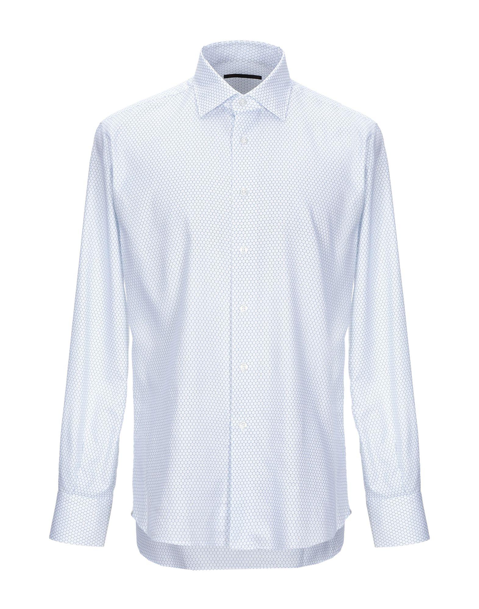 《期間限定セール中》I SARTI メンズ シャツ ホワイト 42 コットン 100%