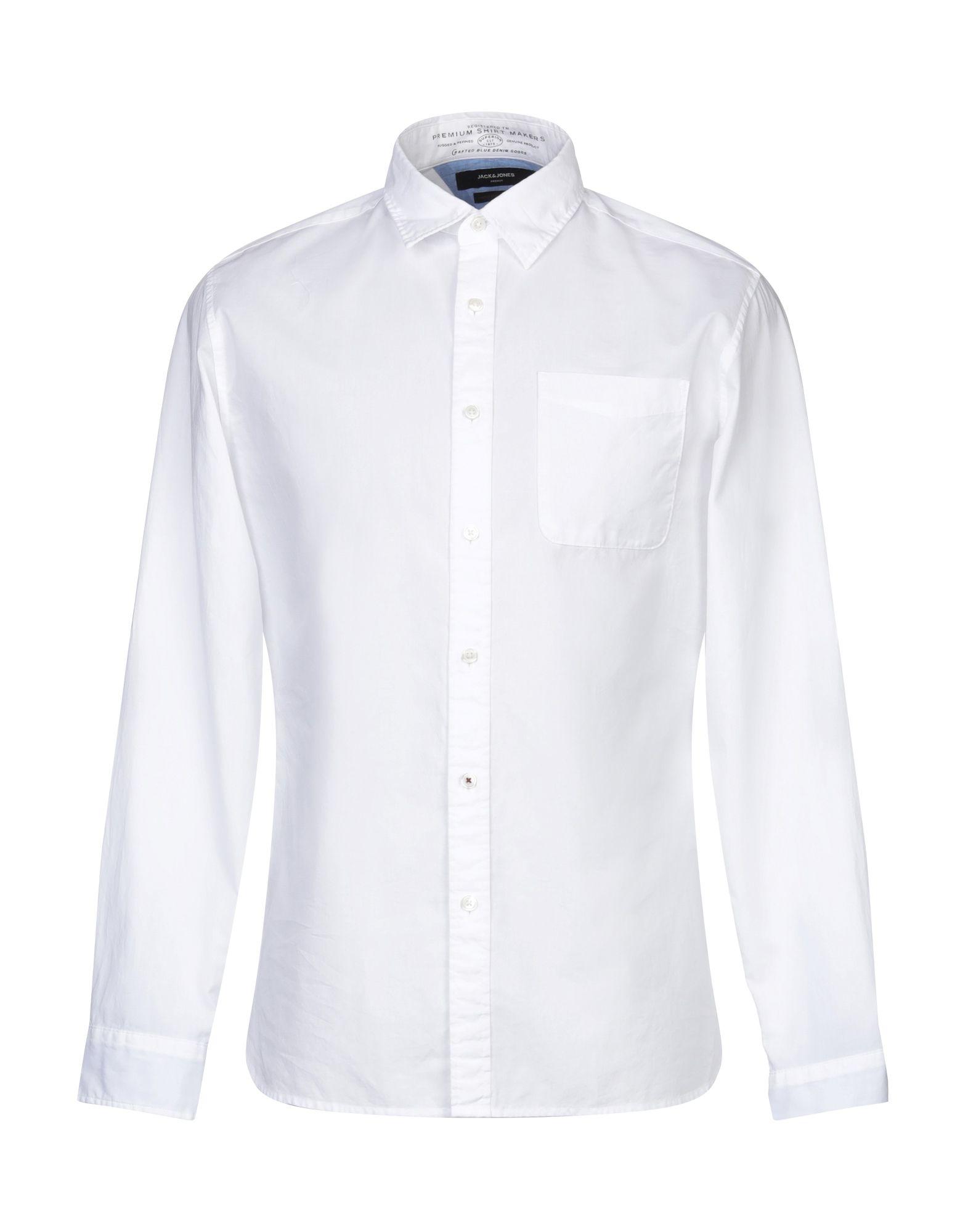 《期間限定セール開催中!》JACK & JONES PREMIUM メンズ シャツ ホワイト XL コットン 100%