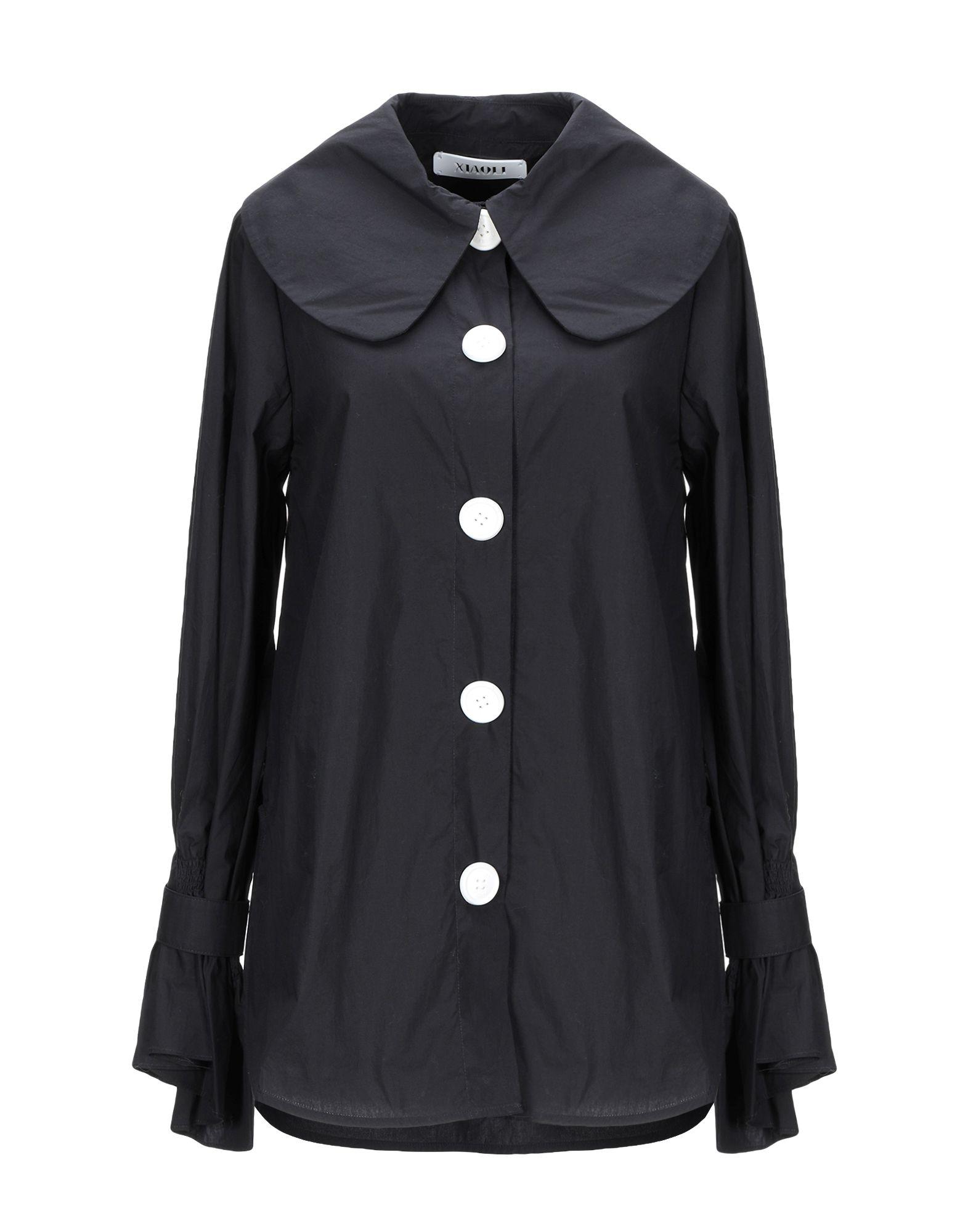 《期間限定セール開催中!》XIAOLI レディース シャツ ブラック XS コットン 100%