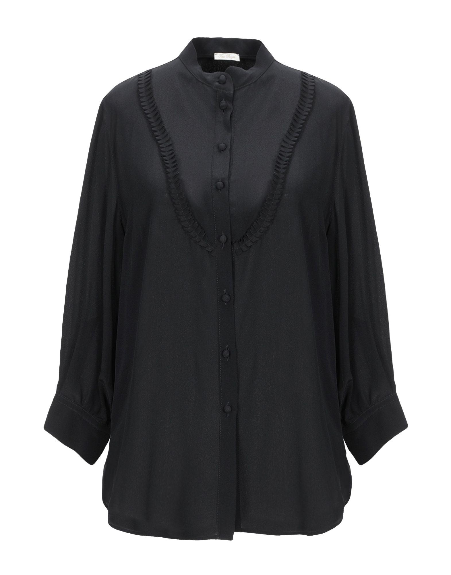 《送料無料》TRUE ROYAL レディース シャツ ブラック 40 シルク 100%