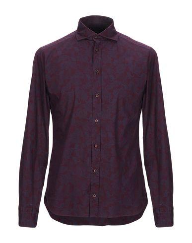 Купить Pубашка от EXIBIT красно-коричневого цвета