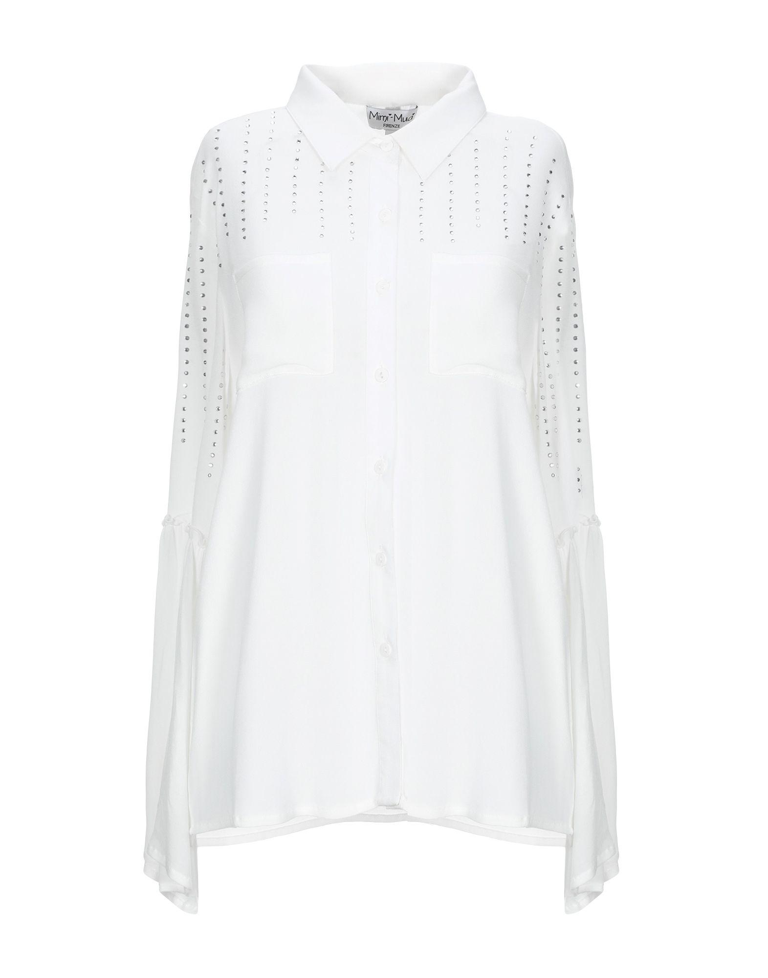 《送料無料》MIMI-MU? Firenze レディース シャツ ホワイト S レーヨン 100%