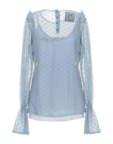 Фото 2 - Женскую блузку PINK MEMORIES пастельно-синего цвета