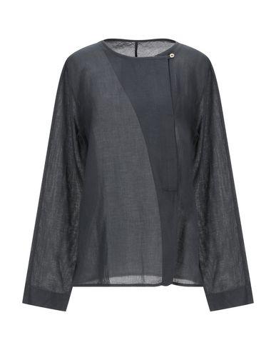 Фото - Женскую блузку POMANDÈRE свинцово-серого цвета