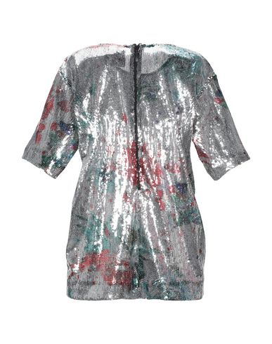Фото 2 - Женскую блузку  серебристого цвета
