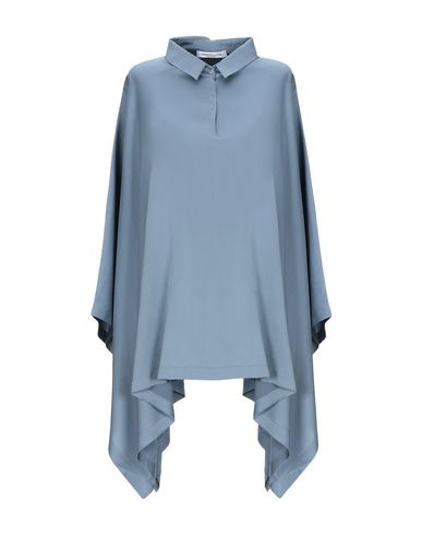 Фото - Женскую блузку LAMBERTO LOSANI грифельно-синего цвета