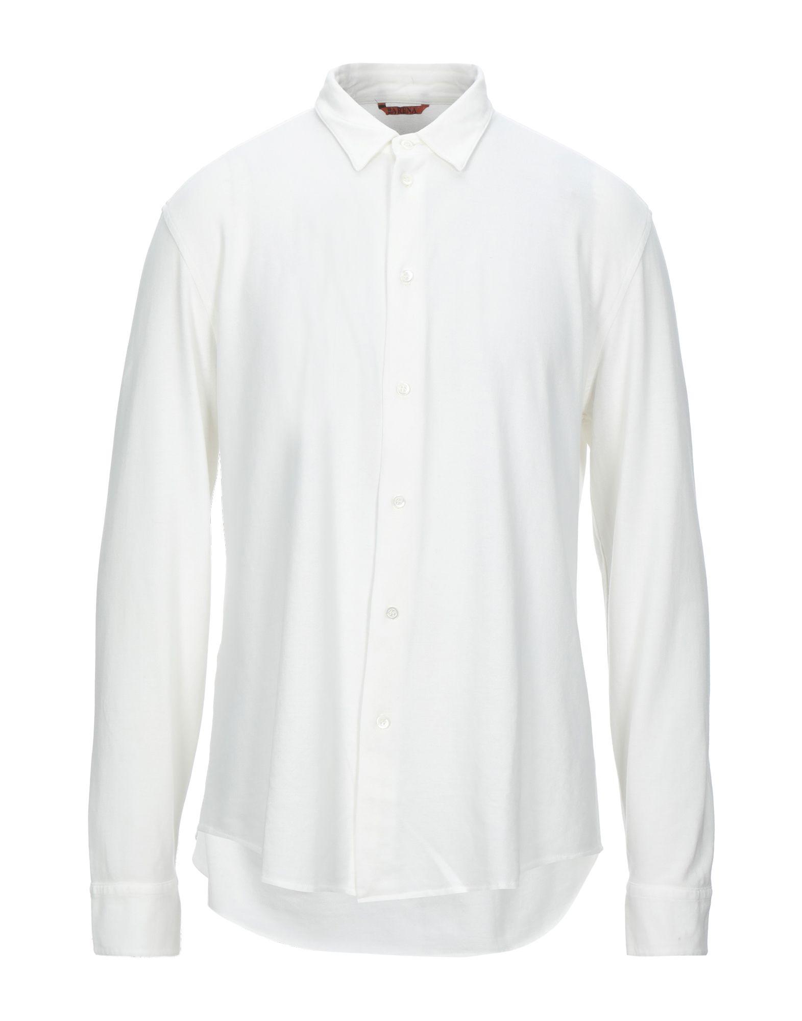 《セール開催中》BARENA メンズ シャツ ホワイト 46 コットン 100%