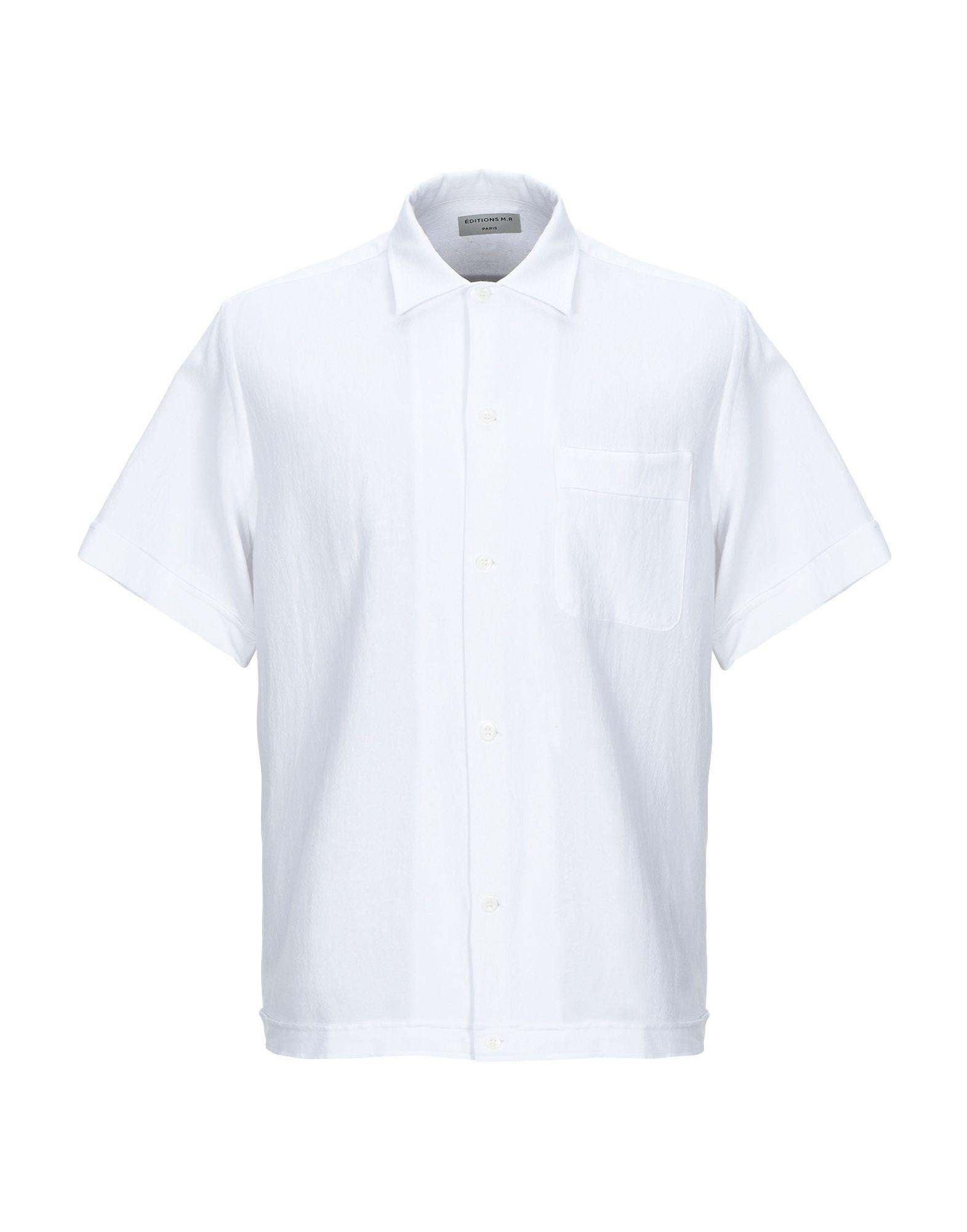 《セール開催中》?DITIONS M.R メンズ シャツ ホワイト 37 レーヨン 45% / 麻 32% / コットン 23%