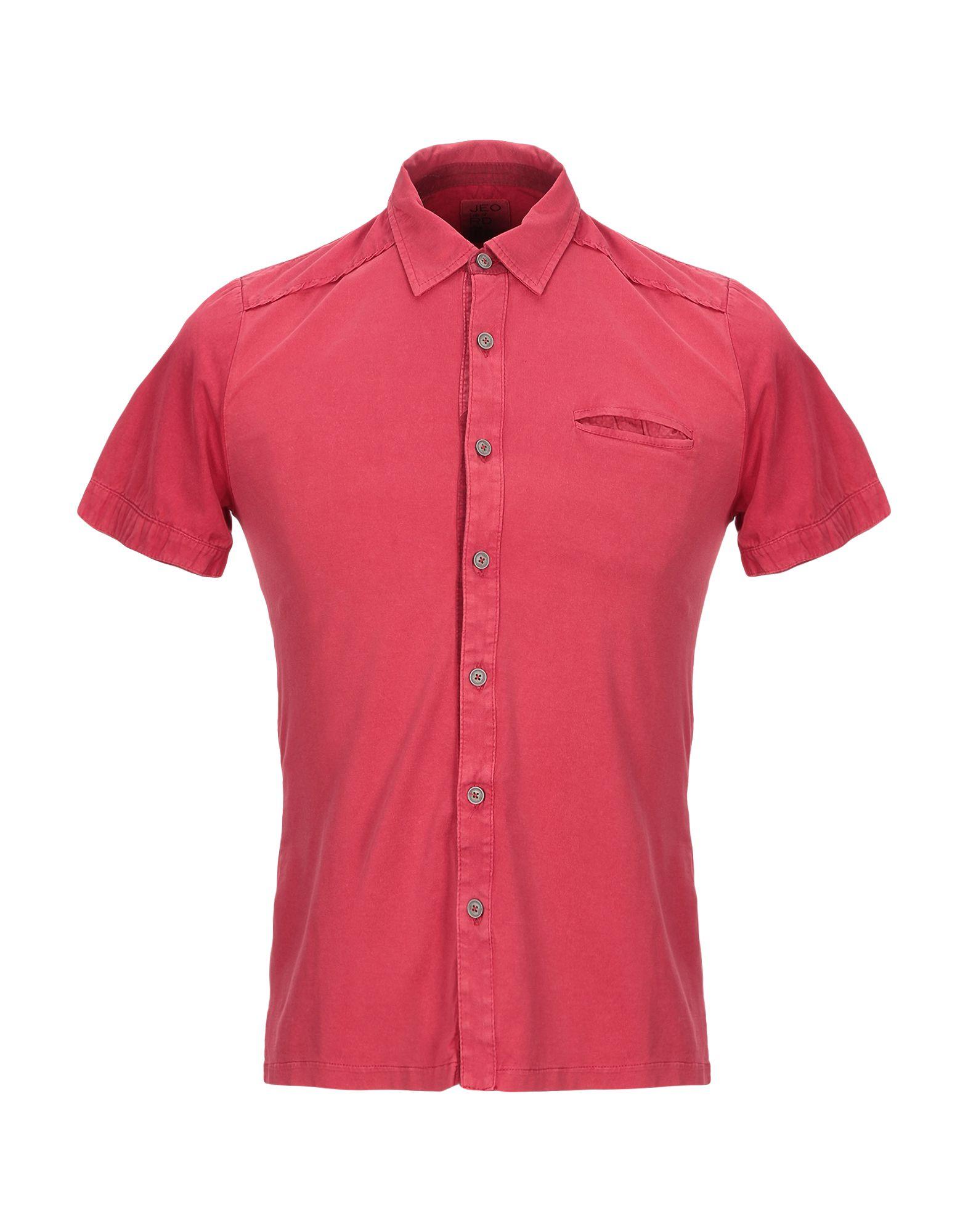 《セール開催中》JEORDIE'S メンズ シャツ レッド S マココットン 100%