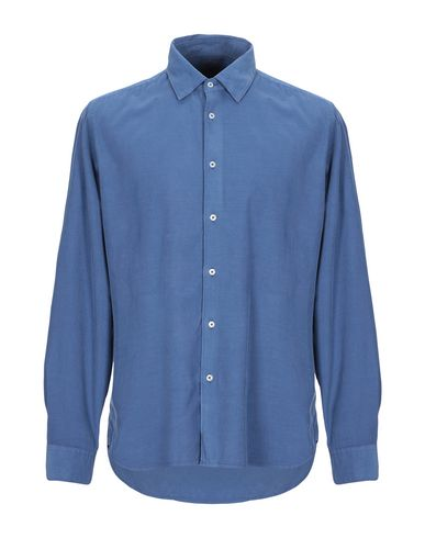 Фото - Pубашка грифельно-синего цвета