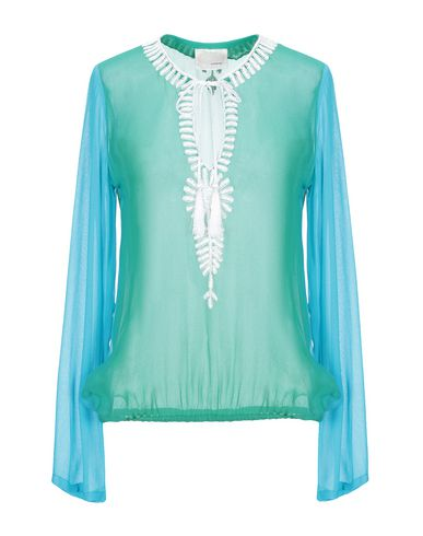 Фото - Женскую блузку GOOSHWA зеленого цвета