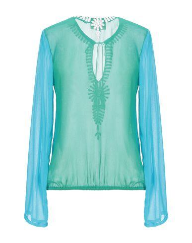 Фото 2 - Женскую блузку GOOSHWA зеленого цвета