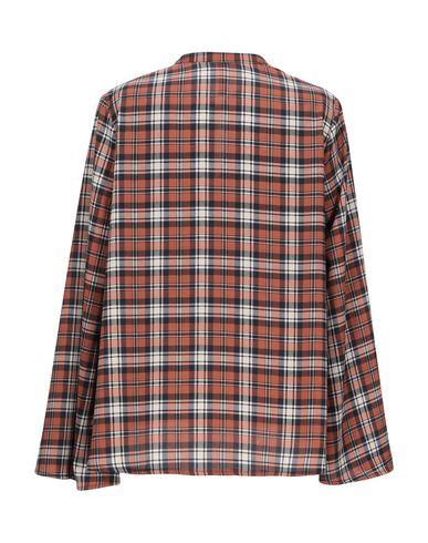 Фото 2 - Женскую блузку  коричневого цвета