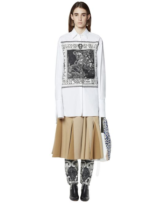 PRINTED SHIRT IN COTTON AND SILK - Lanvin
