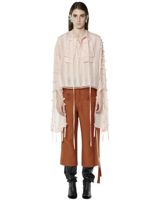 PLUMETIS COTTON BLOUSE - Lanvin