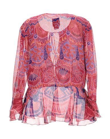 Фото 2 - Pубашка кирпично-красного цвета