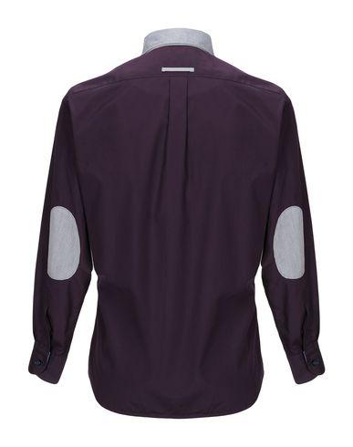 Фото 2 - Pубашка темно-фиолетового цвета