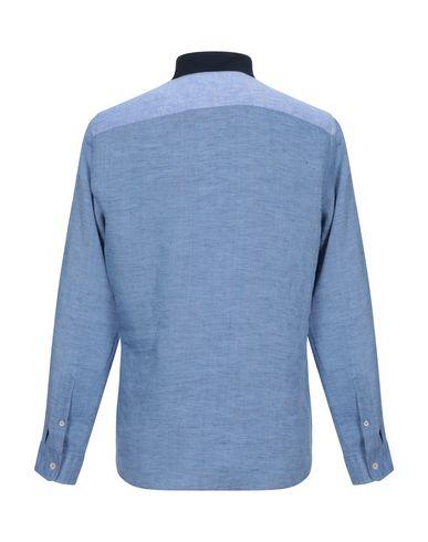 Фото 2 - Pубашка пастельно-синего цвета
