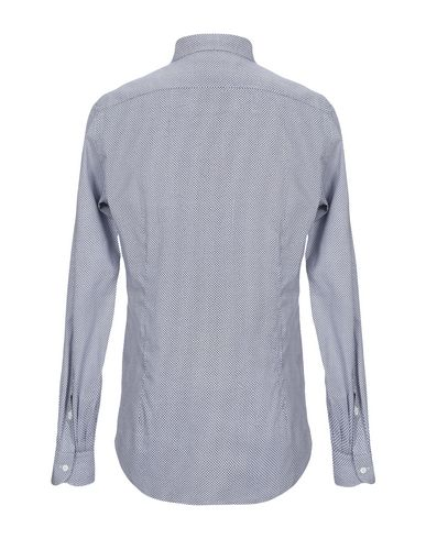 Фото 2 - Pубашка от GIAMPAOLO темно-синего цвета