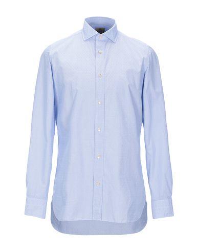 Купить Pубашка от LUIGI BORRELLI NAPOLI небесно-голубого цвета