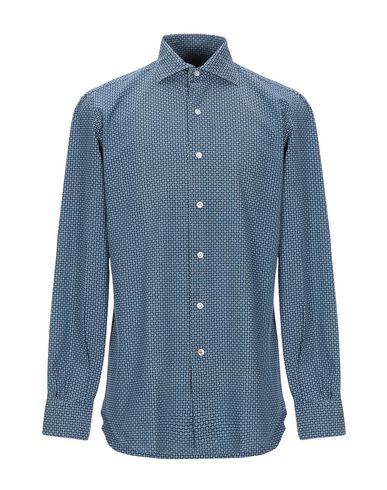 Фото - Pубашка от MAZZARELLI темно-синего цвета