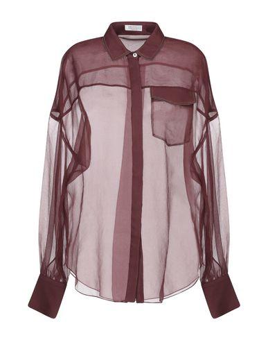 Купить Pубашка красно-коричневого цвета