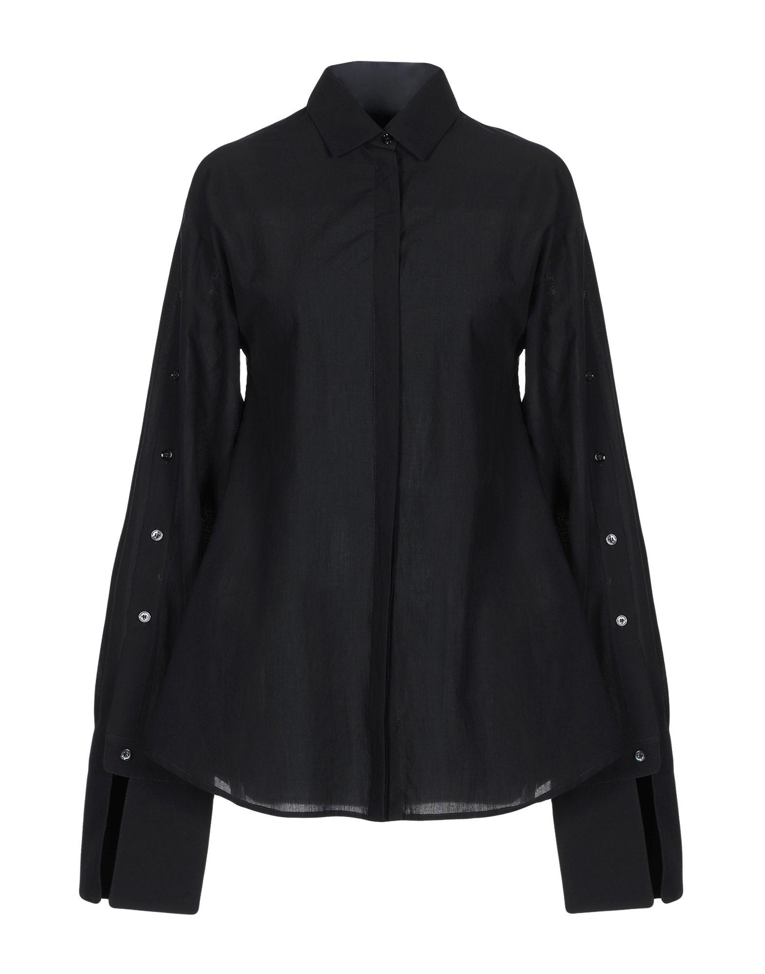 《セール開催中》SONIA SPECIALE レディース シャツ ブラック 38 コットン 100%