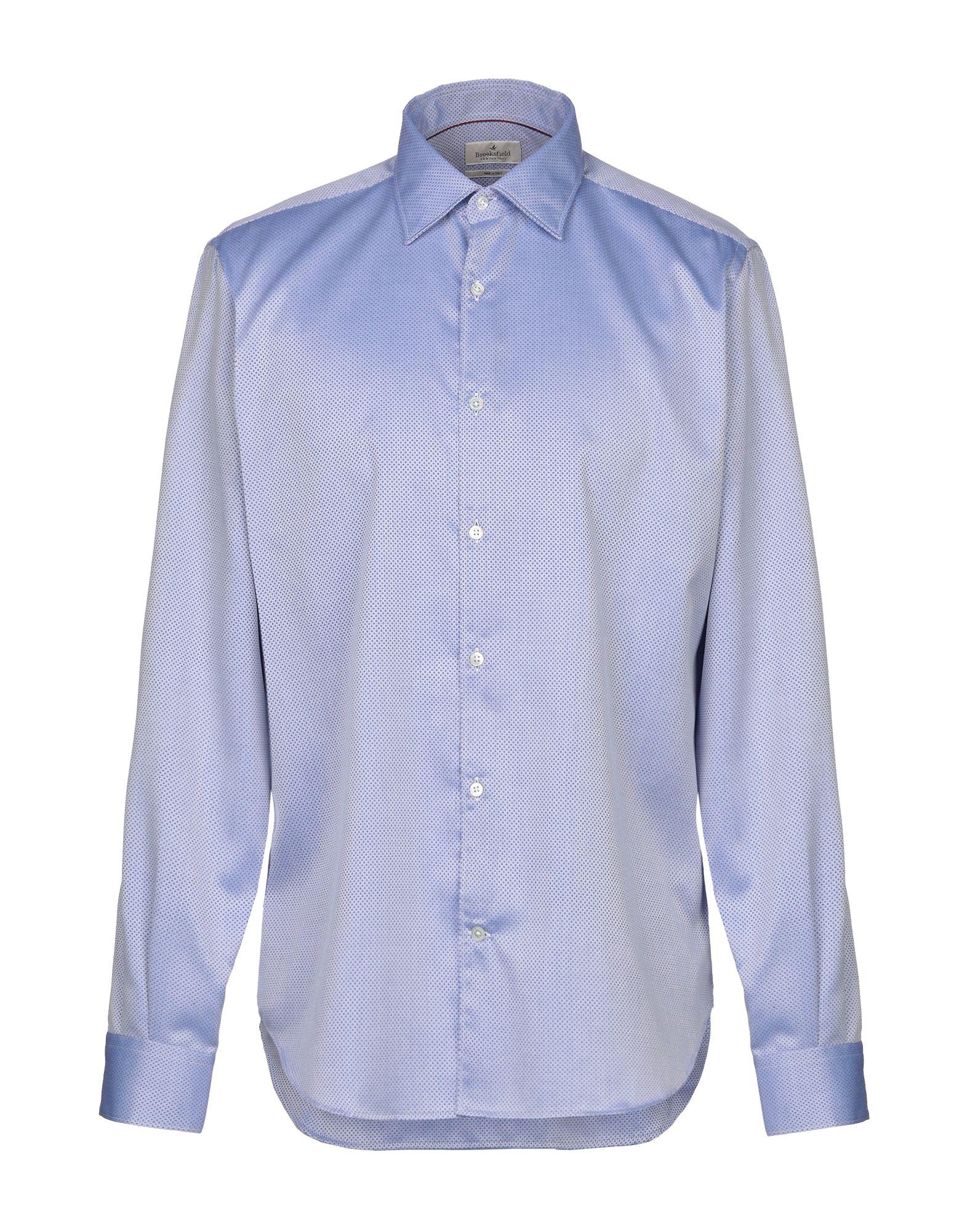 《期間限定 セール開催中》BROOKSFIELD メンズ シャツ アジュールブルー 38 コットン 100%