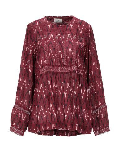 Фото - Женскую блузку  красно-коричневого цвета