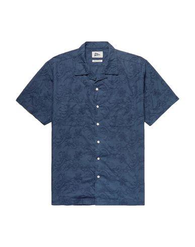 Фото - Pубашка от PILGRIM SURF+SUPPLY темно-синего цвета