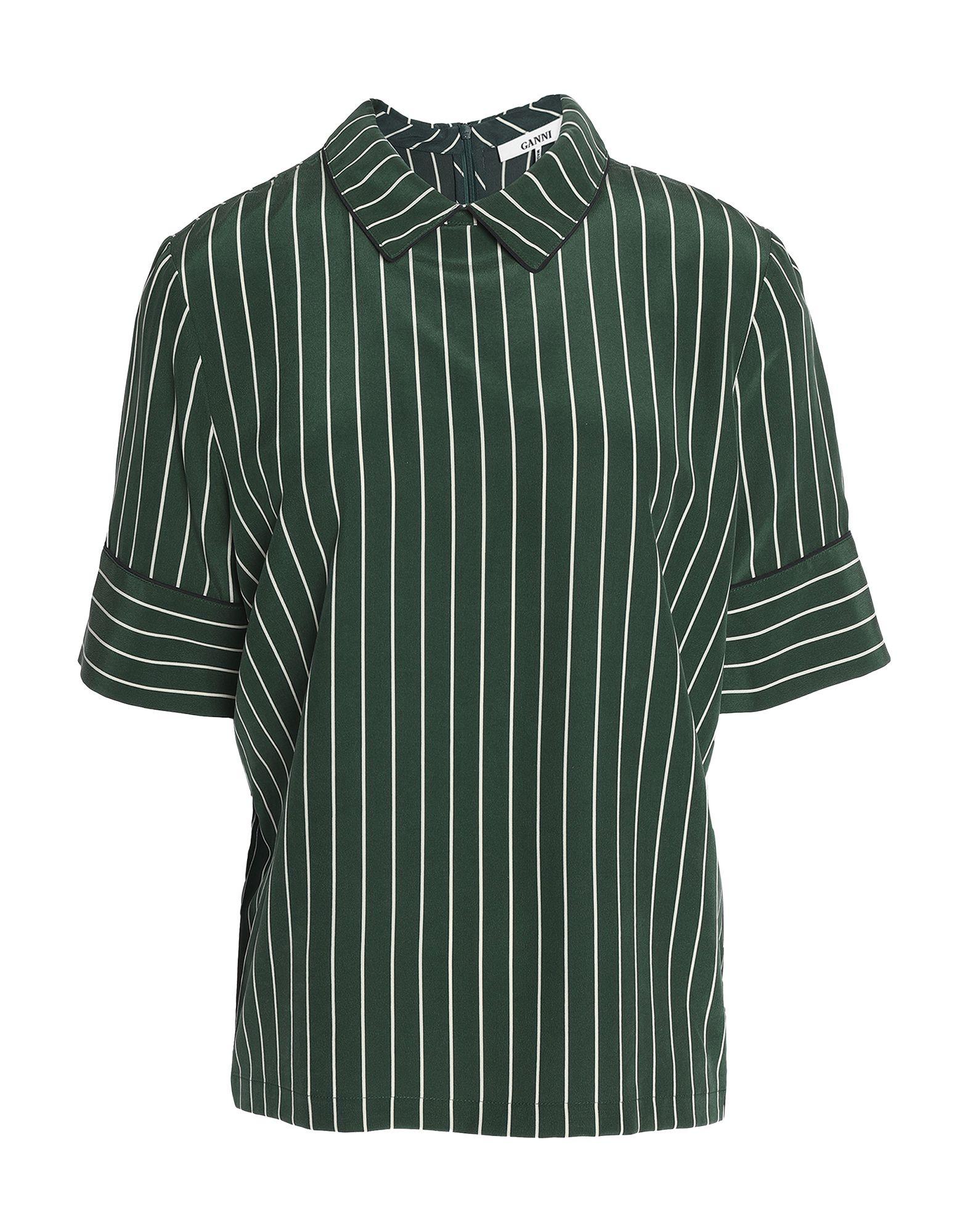 GANNI Блузка блузка в полоску marice