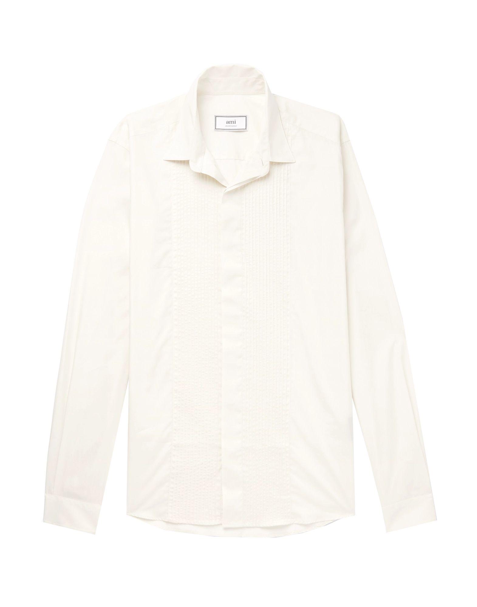 《期間限定セール開催中!》AMI ALEXANDRE MATTIUSSI メンズ シャツ アイボリー 40 コットン 100%