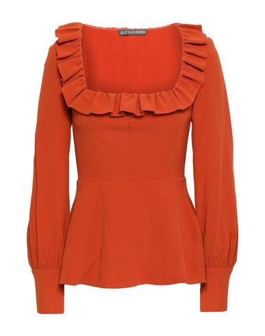 Купить Женскую блузку ALEXACHUNG ржаво-коричневого цвета