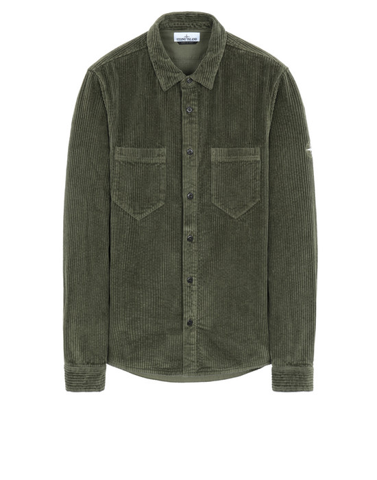 STONE ISLAND 11209 Long sleeve shirt Man Olive Green