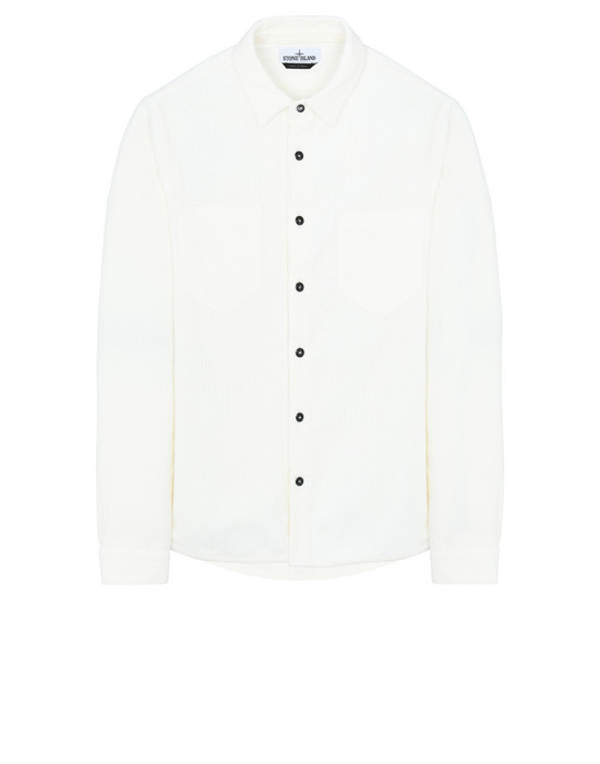 STONE ISLAND 11209 Long sleeve shirt Man Ivory