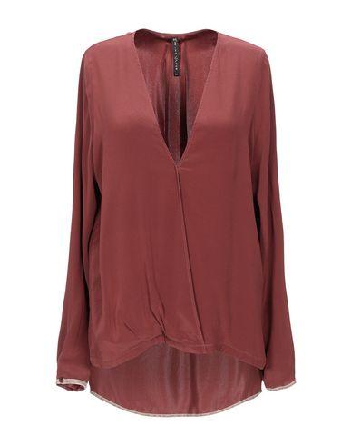 Фото - Женскую блузку  кирпично-красного цвета