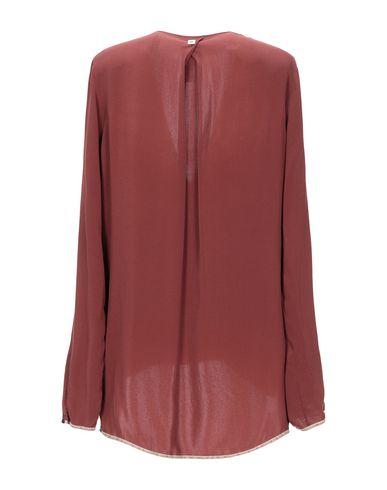 Фото 2 - Женскую блузку  кирпично-красного цвета