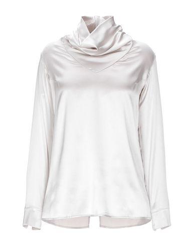 Фото - Женскую блузку GENTRYPORTOFINO светло-серого цвета