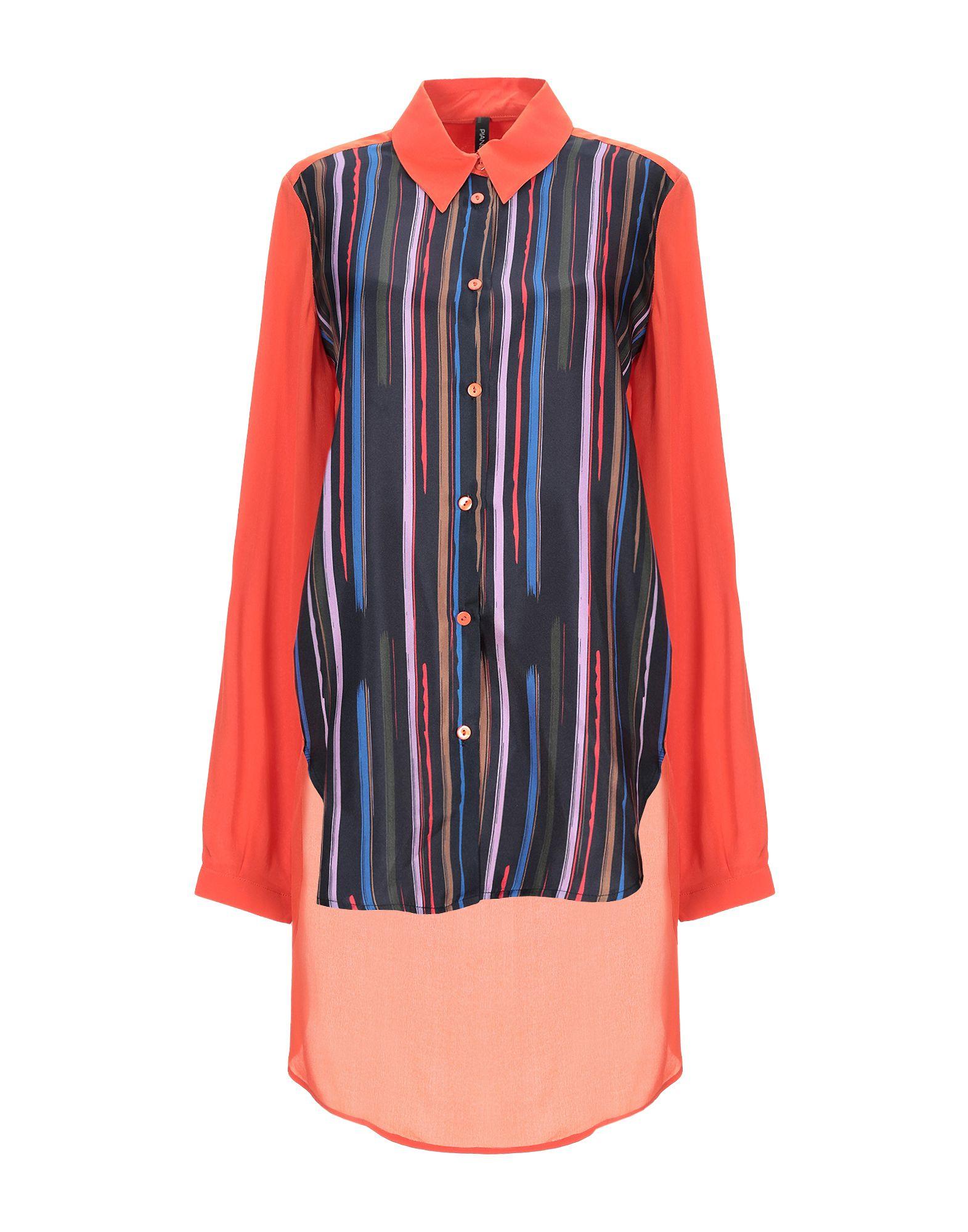 《セール開催中》PIANURASTUDIO レディース シャツ オレンジ 38 シルク 100%