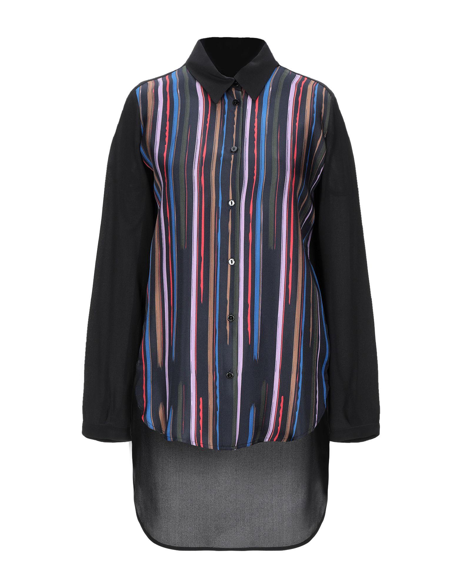 《セール開催中》PIANURASTUDIO レディース シャツ ブラック 40 シルク 100%