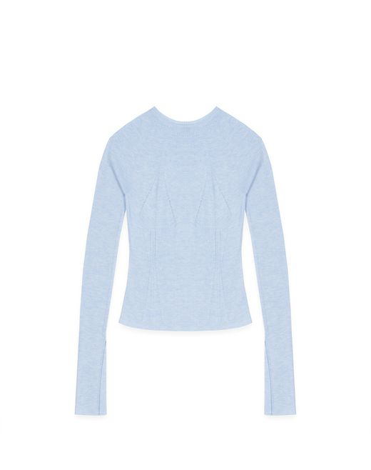 CASHMERE AND SILK SWEATER - Lanvin