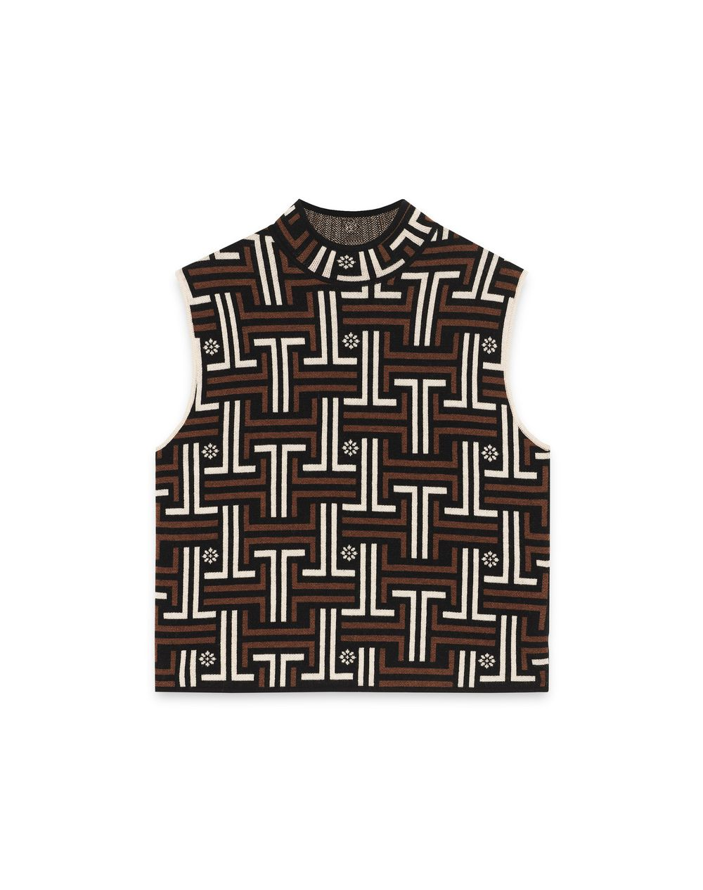 SLEEVELESS MERINO WOOL SWEATER - Lanvin