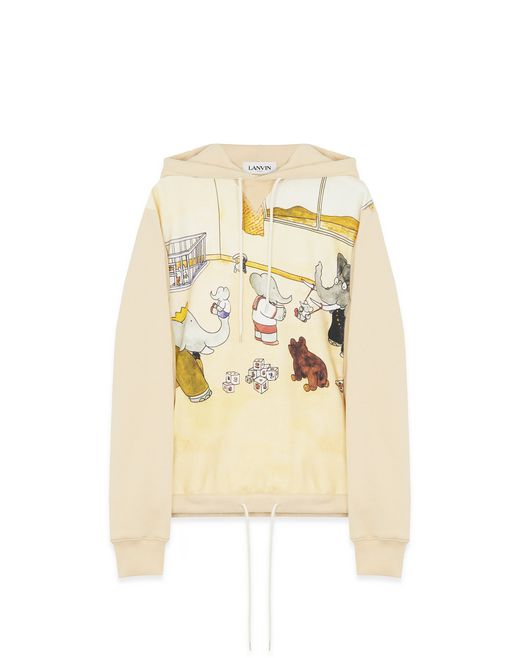 PRINTED COTTON SWEATSHIRT - Lanvin