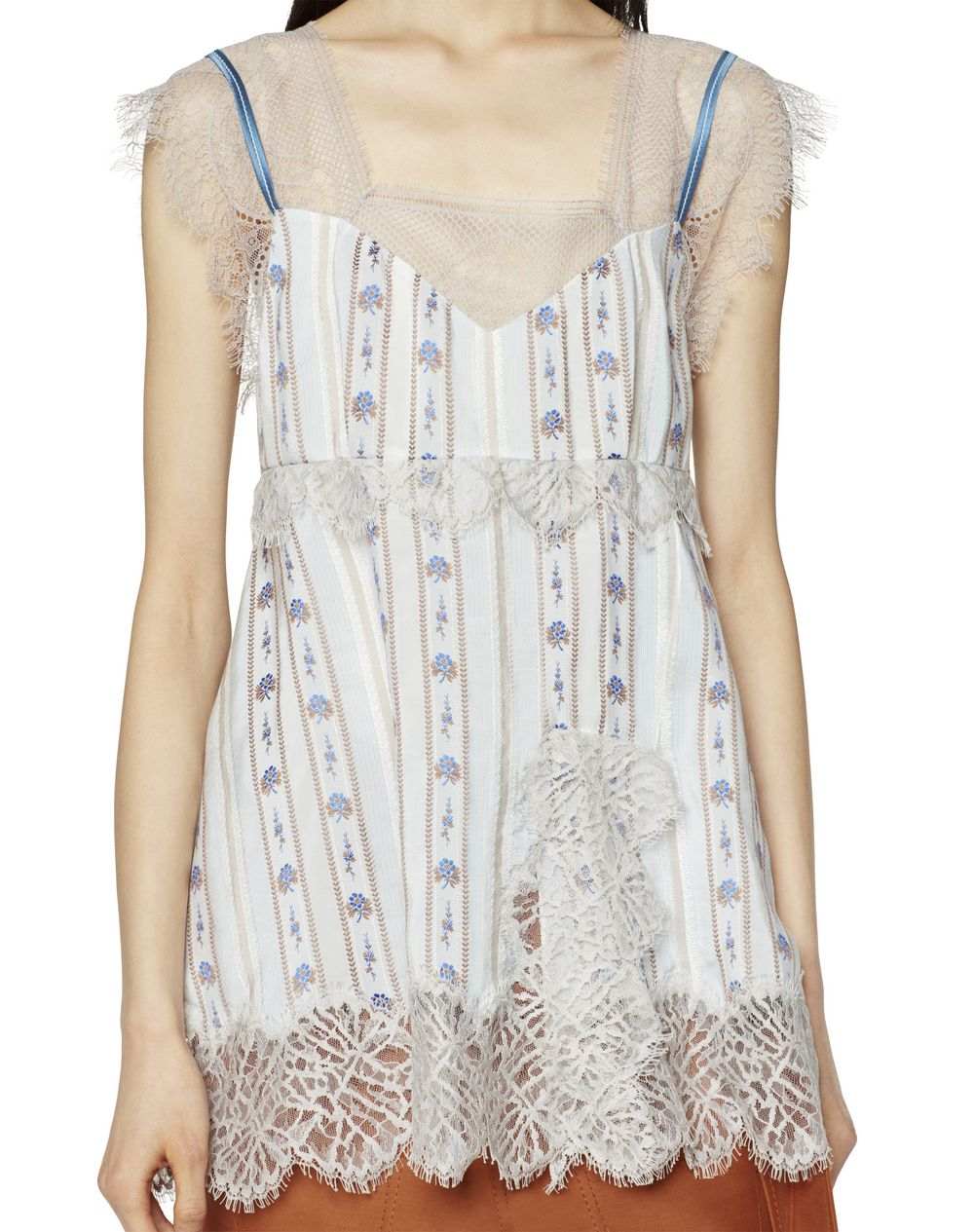 SILK AND LACE TOP  - Lanvin