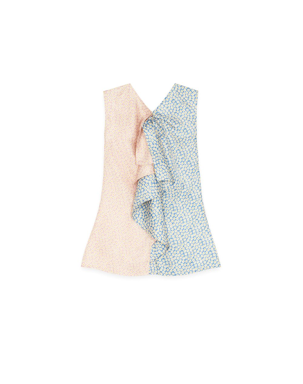 SLEEVELESS RUFFLE BLOUSE - Lanvin